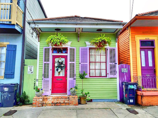 Colorful houses in the Marigny