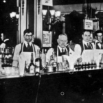 Bartenders at Henry C. Ramos' bar.