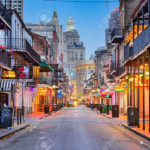 New Orleans Bourbon Street at Night