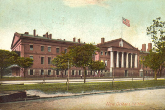This postcard from 1907 shows the Old U.S. Mint shortly before it was decommissioned by the federal government.